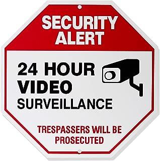 AmazonBasics Video Surveillance Sign, No Trespassing, 12