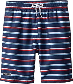 Toobydoo - The Classic - Navy Stripe Swim Shorts (Infant/Toddler/Little Kids/Big Kids)