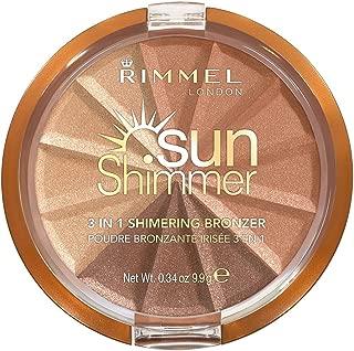 Rimmel London Sunshimmer 3 in 1 Shimmering Bronzer, 002 Bronze Goddess, 9.9g