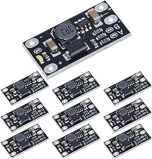 ANMBEST 10PCS Mini Boost Module 3.7V to 5V 8V 9V 12V Step Up Board with LED Indicator for Electronic DIY