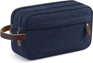 Men's Travel Toiletry Organizer Bag Dopp Kit Bathroom Bag (Blue Water-resistant)