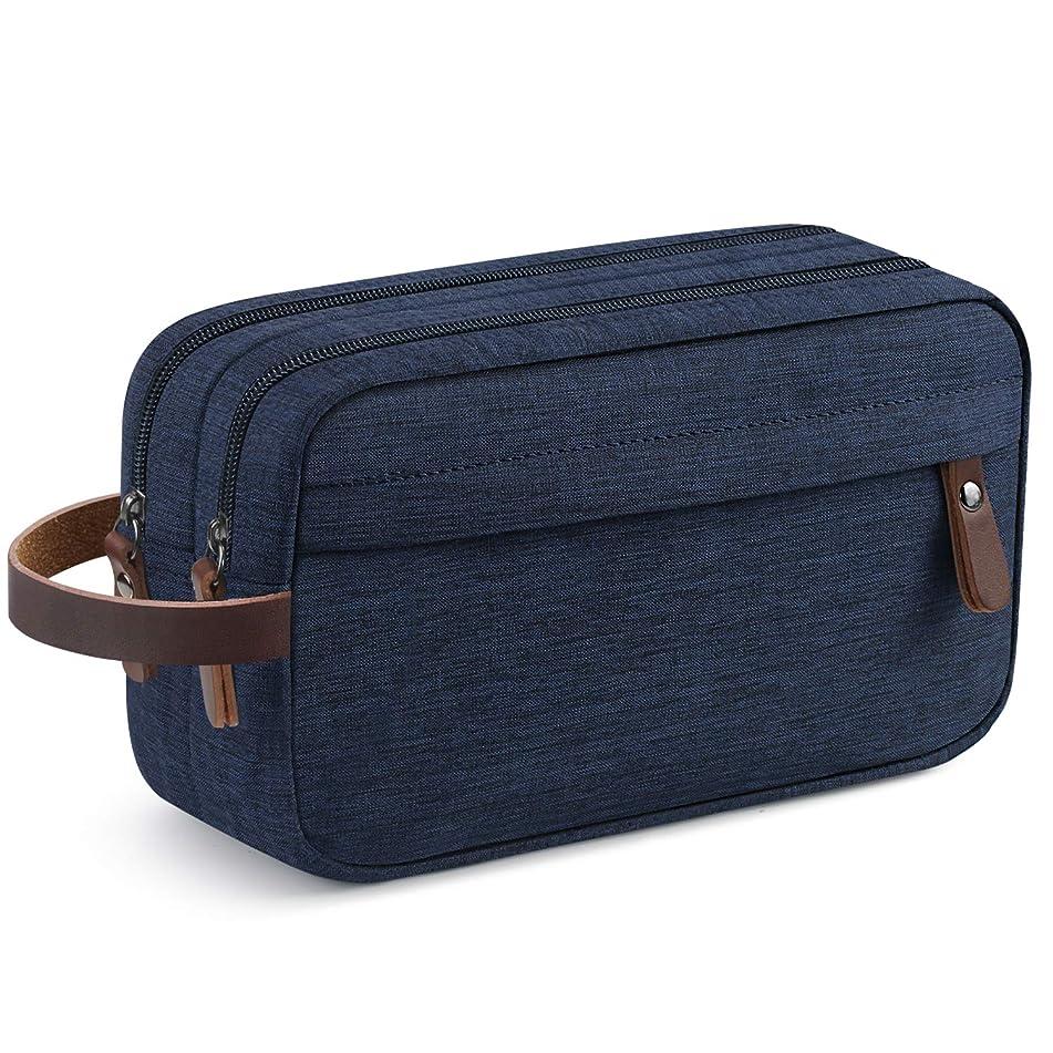 Men's Travel Toiletry Organizer Bag Water-resistant Shaving Dopp Kit Bathroom Bag (Blue Water-resistant)