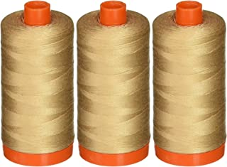 3-Pack - Aurifil Beige - A1050-2314 Mako Cotton Thread - Solid 50WT 1422Yds each