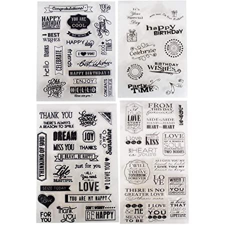 Basic SentimentThank youbirthday best wishes planner  scrapbook card making Clear Photopolymer Stamp set