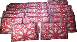 Facial Tissues Wallet Size, 3-ply Pocket Pack Slim Format, Perfect Travel Size for Small Bag or Pockets, Unisex Red Paisley Design, 10 Soft Tissues Per Wallet Pack