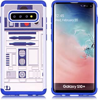 Galaxy S10 Phone Case - R2D2 Droid Robot Pattern Shock-Absorption Hard PC and Inner Silicone Hybrid Dual Layer Armor Defender Protective Case Cover for Samsung Galaxy S10 6.1 inch 2019