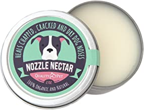 Nozzle Nectar   Dog Nose Balm Relieves and Repairs Your Dog's Dry Cracked and Crusty Nose with 100% Organic and Natural Ingredients  2 OZ  Made in The USA..