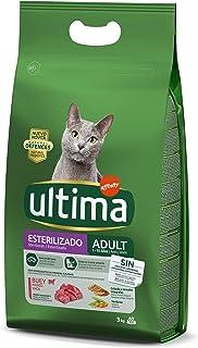 comprar comparacion Ultima Pienso para Gatos Esterilizados Adulto con Buey - 3 kg