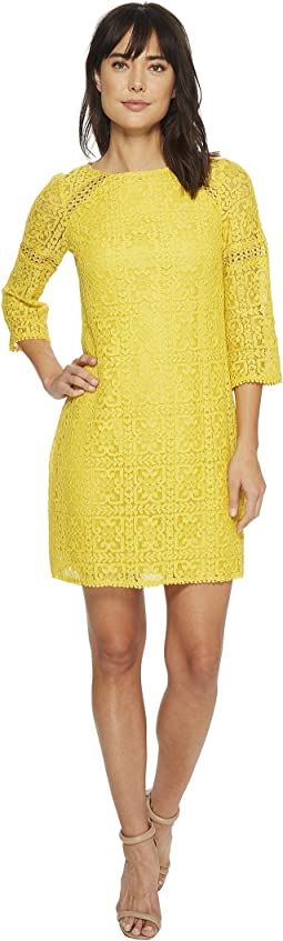 Adrianna Papell - Marni Lace 3/4 Sleeve Shift