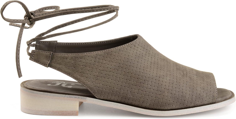 Brinley Co. kvinnor Bobbi Faux Nubuck Slingback Open -Toe Sandals