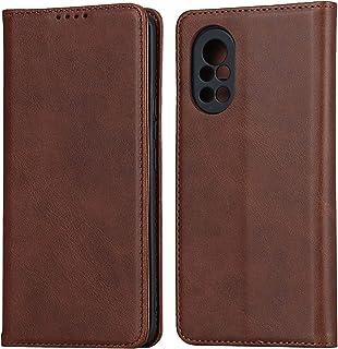 Flip Case Cover för Huawei Nova 8 5G (mörkbrun)