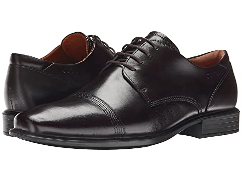 Mens Shoes ECCO Cairo Oxford Cap Toe Tie Coffee