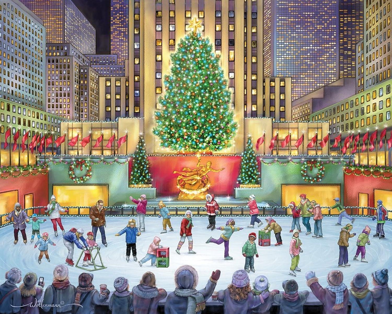 Vermont Christmas Company Rockefeller Center Jigsaw Puzzle 1000 Piece