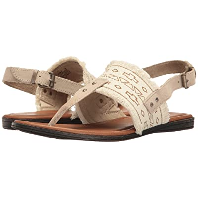 Minnetonka Panama (Natural Canvas Fabric/Taupe Suede) Women
