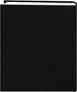 Fabric Frame Cover Photo Album 200 Pockets Hold 5x7 Photos, Deep Black