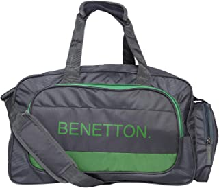 62728af2d United Colors of Benetton Duffle Bag Polyester 50 cms Grey/Green Travel  Duffle (0IP6AMDBGG04I