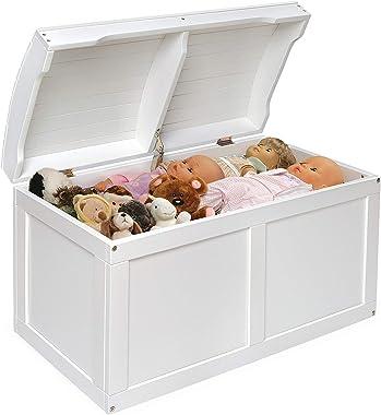 Mandycng Elegant Modern Treasure Chest Box Toy Storage Case, Vintage Design Hardwood Box Barrel Bucket Top Lid Toy Organizer