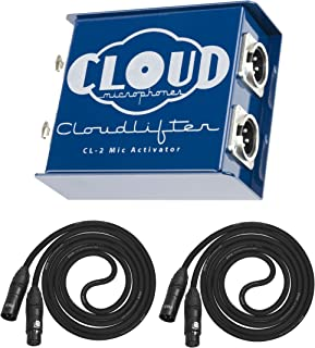 Cloud Microphones CL-2 Cloudlifter 2-channel Dual-Mono Version Mic Activator with 2 Senor XLR Microphone Cables