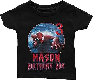 Custom Spiderman Birthday Shirt