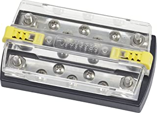 """Blue Sea Systems 2723 DualBus 150A Common 4 x 5/16"""" Stud and 5 x 10-32 Screw Terminal"""