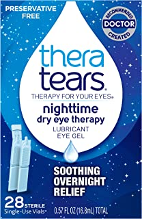 Thera Tears Nighttime Dry Eye Therapy, 28 Sterile Vials Per Pack