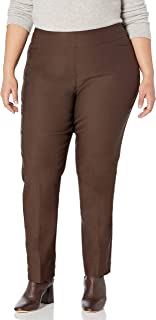 SLIM-SATION womens Plus-Size Pant With Real Front L Pockets Pants