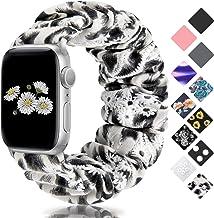 Sponsored Ad - SAMYERLEN Compatible with Scrunchie Apple Watch Band 38mm 40mm 42mm 44mm, Women Cute Soft Elastic Scrunchy ...