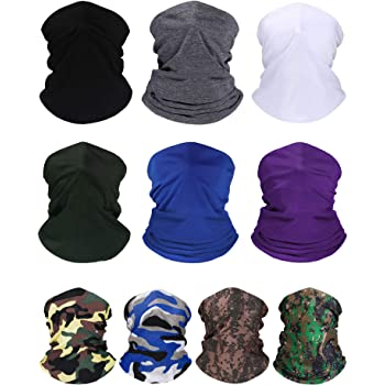 Seamless Bandanas Cycling Face Cover for Outdoor Sports Balaclava Magic Headband Fashion Scarf Elastic Neck Gaiter IMPAWFAN UV Dust Protection Face Mask
