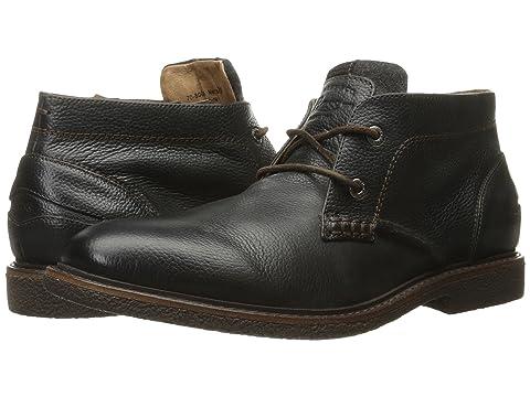 G.H.BASS&CO Bennett, Black Tumbled Leather