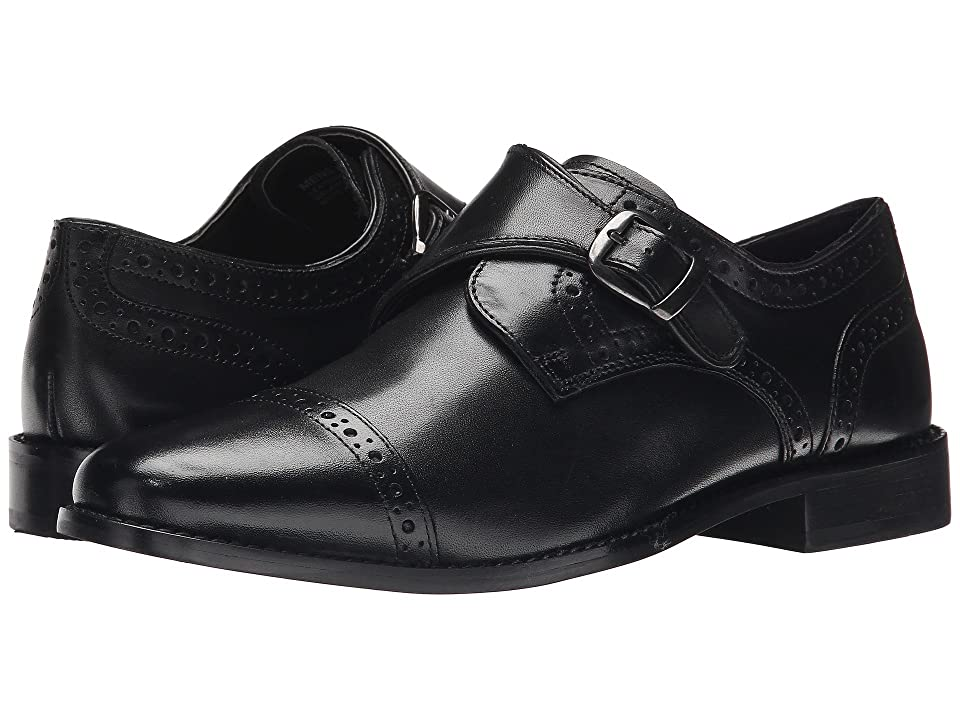 1940s Mens Shoes | Gangster, Spectator, Black and White Shoes Nunn Bush Newton Cap Toe Dress Casual Monk Strap Black Mens Monkstrap Shoes $90.00 AT vintagedancer.com