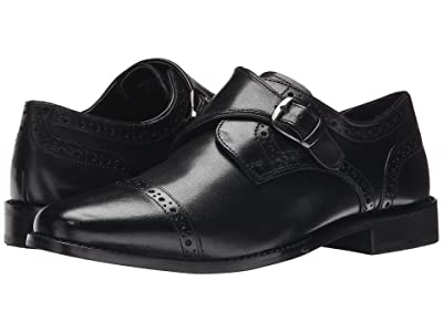 Nunn Bush Newton Cap Toe Dress Casual Monk Strap (Black) Men