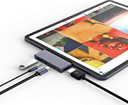 USB Type-C Hub Dongle Adapter for iPad Pro 2018-4 in 1 USB C Hub with 4k HDMI, 3.5mm Headphone Jack, USB 3.0, PD Charging - Compatible with iPad Pro 11