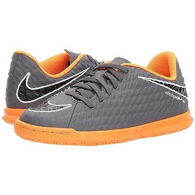 Nike Kids Jr. Hypervenom Phantom 3 Club IC Soccer (Toddler/Little Kid/Big Kid) (Dark Grey/Total Orange/White) Kids Shoes