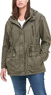 Size Women's Plus Parachute Cotton Utility Jacket