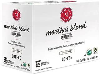 Martha Stewart Coffee Martha's Blend Decaf by Barrie House - Single Serve Capsules 22 count