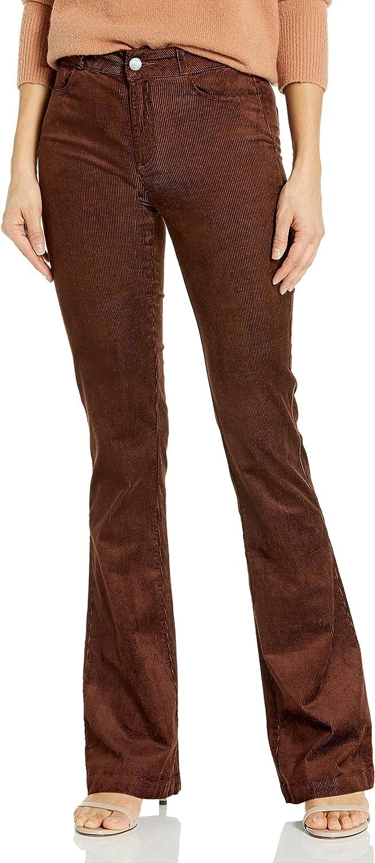 PAIGE Women's Lou High New York Deluxe Mall Rise Flare Leg Jean Velvet
