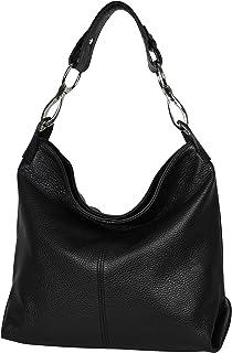 AmbraModa GL033 - Damen echt Ledertasche Handtasche Schultertasche Henkeltasche Beutel