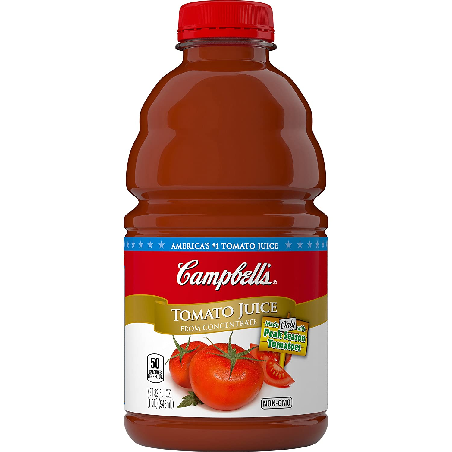 Campbell's Tomato OFFicial site Juice half 32 oz. Bottle 8 Pack of