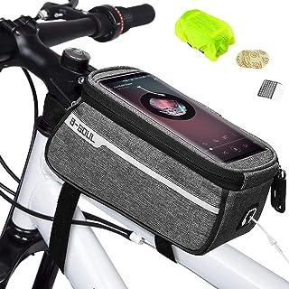 comprar comparacion Weeygo Bolsa de Bicicleta, Bolsa de Marco de Bicicleta Bolso Impermeable del Soporte del teléfono del Tubo del Tubo Superi...