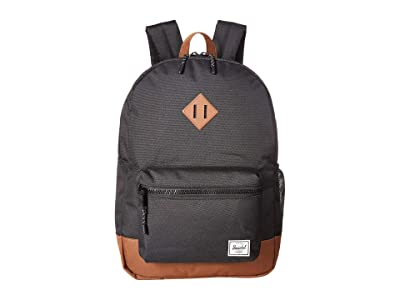 Herschel Supply Co. Kids Heritage Youth XL Backpack (Youth) (Black/Saddle Brown) Backpack Bags