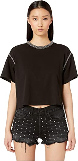 Jersey T-Shirt with Studs