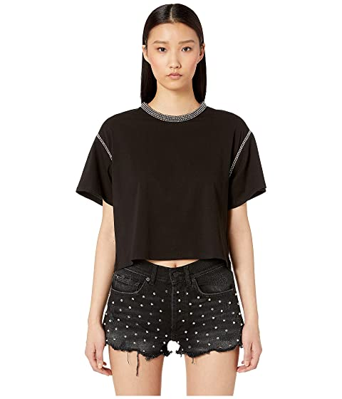 The Kooples Jersey T-Shirt with Studs