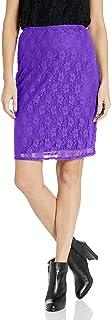 Star Vixen Women's Stretch Lace Sexy Secretary Pencil Skirt-Lined