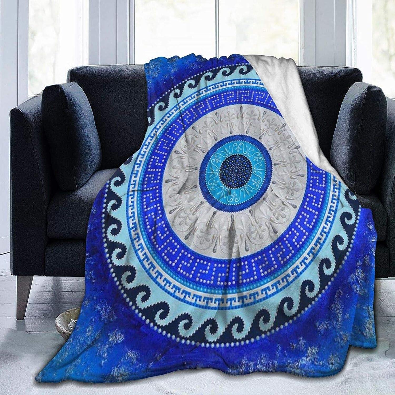 KAIYANJIXIE Greek お求めやすく価格改定 SALE Matiasma Evil Eye Cozy Ultra-Soft Flannel Blan