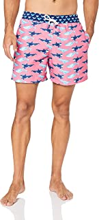 Palmacea Men's Pink Whales Swim Shorts