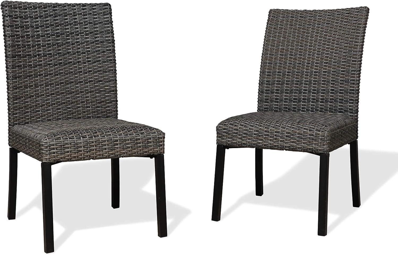 Iwicker It is very popular Patio unisex Wicker Dining Chairs Outdoor Heavy-Duty Steel Fram
