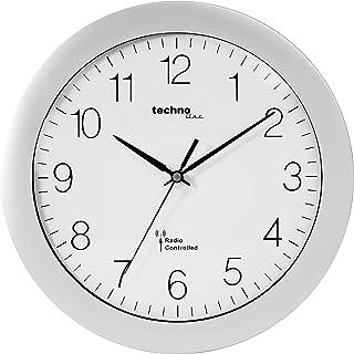 Technoline WT 8000 Radio Wall Clock Silver