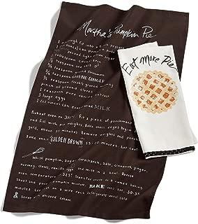 Martha Stewart Collection 2-Pc. Cotton Eat More Pie Kitchen Towel Set