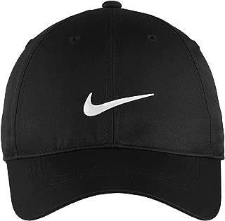 Nike Golf Dri-Fit Swoosh Front Cap, Black/White