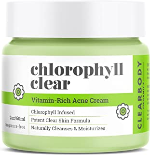 Chlorophyll Acne Cream Treatment- Natural Face Moisturizer for Pimples Scars Cystic Acne Blackheads Spot Treatment- Night/...